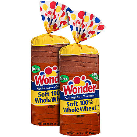 Wonder® Soft 100% Whole Wheat Bread - 16 oz. - 2 pk.