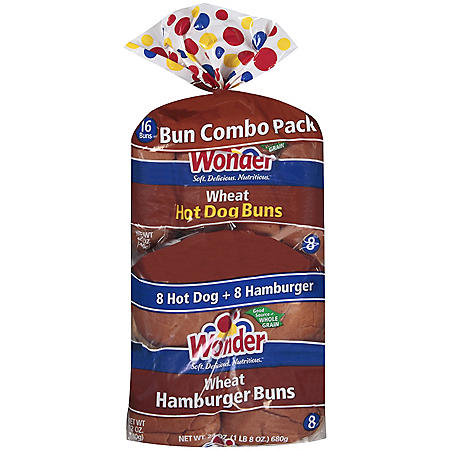 Wonder? Wheat Bun Combo Pack - 16 ct.