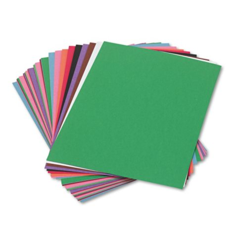 Pacon - Construction Paper, 58 lbs., 9 x 12 - Assorted, 50 Sheets per Pack