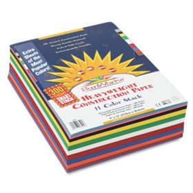 Pacon - Construction Paper Smart-Stack, 58 lbs., 9 x 12 - Assorted, 300 Sheets per Pack