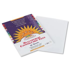 Pacon - Construction Paper, 58 lbs., 9 x 12, White, 50 Sheets per Pack