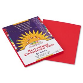 Pacon - Construction Paper, 58 lbs., 9 x 12 - Holiday Red, 50 Sheets per Pack
