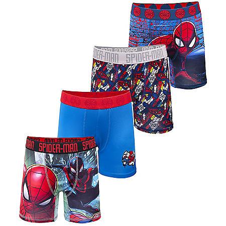 Licensed Boy's Boxer Briefs, 4-Pack