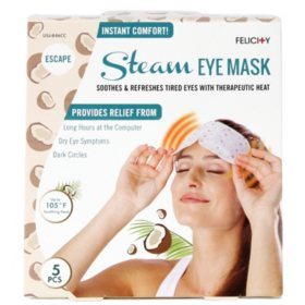 Felicity Relaxing Heated Steam Eye Mask, Various Scents (5 pk.)