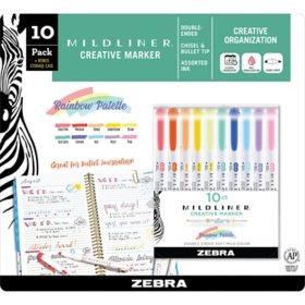 Mildliner Double-ended Creative Marker Assorted, 10 Packs (Choose a Color)