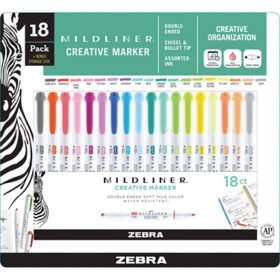 Mildliner Double Ended Highlighter Assorted 18-pk