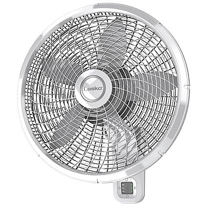 Lasko 18″ Oscillating Wall-Mount Fan with Remote