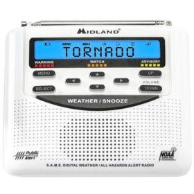 Midland NOAA Weather Alert Radio (WR120C)
