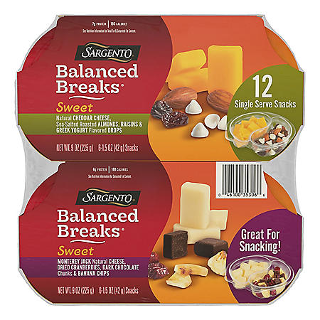 Sargento Sweet Balance Breaks Variety Snack Pack (12 ct.)