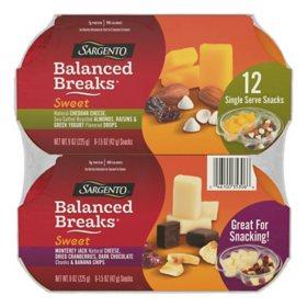 Sargento Sweet Balanced Breaks, Variety Snack Pack (12 ct.)