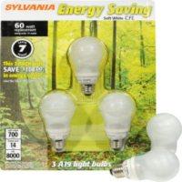 SYLVANIA Energy Saving Soft White - 3pk