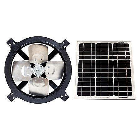US Sunlight, 1125TR, Black, 25-Watt Solar Gable Fan