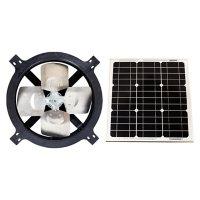 US Sunlight, 1125TR, Black, 25-Watt Solar Gable Fan