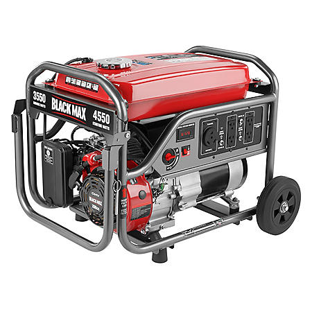 Black Max 3,550W / 4,375W Portable Gas Powered Generator