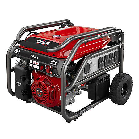 Black Max 7,000W / 8,750W Honda Powered Portable Gas Powered