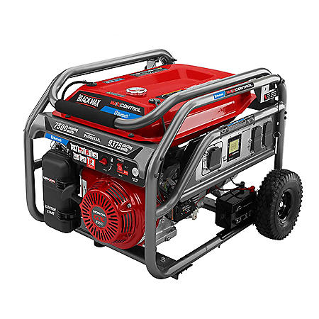 BlackMax 7500 Watt Bluetooth Generator w/ MaxSense CO Shutdown Powered by Honda