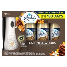Glade Automatic Spray Air Freshener 1 Holder + 3 Refills