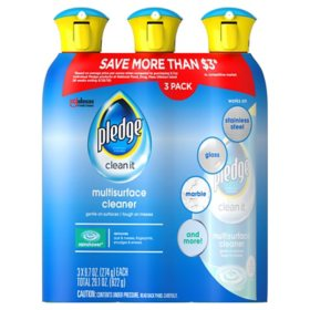 Pledge Multisurface Cleaner, Choose Scent (9.7 oz., 3 pk.)