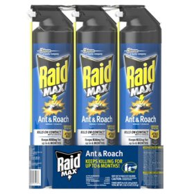 Raid Max Ant and Roach Killer 3ct, 14.5 oz