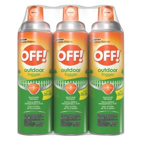 OFF! Outdoor Insect and Mosquito Repellent Fogger 3 ct, 16 oz