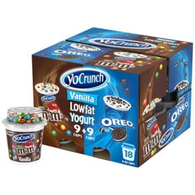 YoCrunch Yogurt Variety Pack (6 oz. cups, 18 pk.)