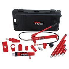 Porto-Power Hydraulic Body Repair 19 Piece Kit - 10-Ton Capacity (Black/Red)