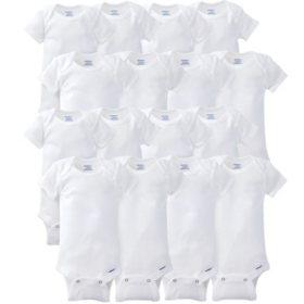 Gerber Onesies 16-Piece GROW WITH ME Set-White