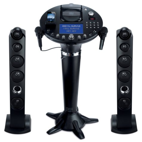 """Singing Machine Pedestal CD+G Karaoke Player with iPod Dock and 7"""" TFT LCD Color Monitor"""