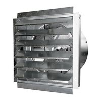 Maxx Air 18 In. Heavy Duty Exhaust Fan with Automatic Shutter