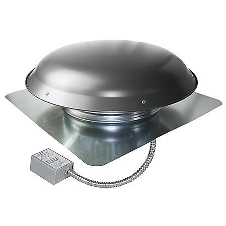 Maxx Air 1000 Series 1,080 CFM Steel Roof Mount Power Attic Ventilator in Weathered Gray