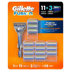 Gillette Fusion Manual Razor Handle + 14 Cartridges