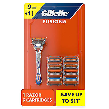 Gillette Fusion5 Men's Razor Handle + 9 Blade Refills
