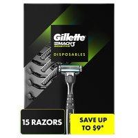 Gillette Mach3 Sensitive Disposable Razors (15 ct.)