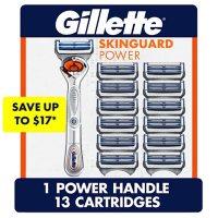 Gillette SkinGuard Power Men's Razor Handle + 13 Blade Refills