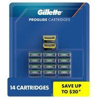 Gillette ProGlide Men's Razor Blades, 12 Refills + ProGlide Shield Men's Razor Blades, 2 Refills