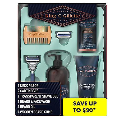 King C. Gillette Shave Care for Men Beard Care Kit