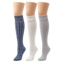 Cuddl Duds Women's Knee High Socks, 3 Pack
