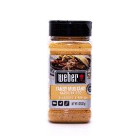 Weber Tangy Mustard Carolina BBQ Seasoning & Rub (8 oz.)