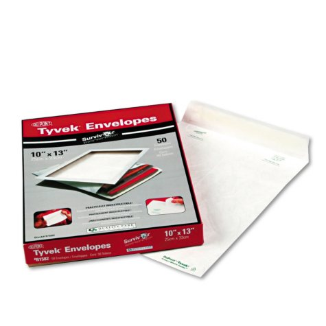 "Survivor Tyvek Mailer - Side Seam - 10"" x 13"" - White - 50 ct."
