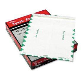 SURVIVOR - Tyvek USPS First Class Mailer, Side Seam, 12 x 15 1/2, White - 100/Box