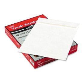 SURVIVOR - Tyvek Expansion Mailer, 10 x 13 x 1 1/2, White - 25/Box