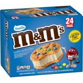 M&M's Cookie Sandwiches with Vanilla Ice Cream (24 ct.)