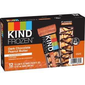 KIND Frozen Dark Chocolate Peanut Butter Treat Bars (12 ct.)