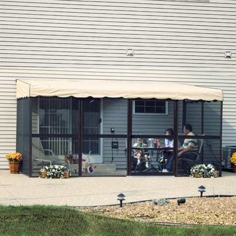 "PatioMate® Screen Enclosure - 8'6"" x 17'1""- Almond"