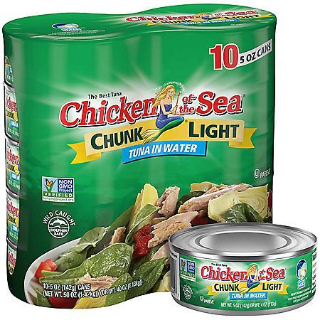 Chicken of the Sea Chunk Light Tuna in Water (5 oz., 10 pk.)