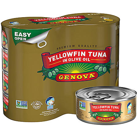 GENOVA Yellowfin Tuna in Olive Oil (5 oz., 8 pk.)