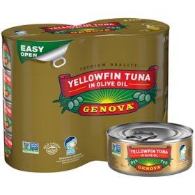 GENOVA Yellowfin Tuna in Olive Oil (5 oz., 8 pk.)
