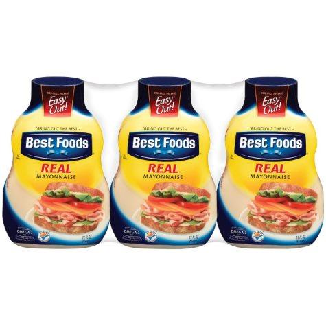 Best Foods Real Mayonnaise (22 oz. ea, 3 pk.)