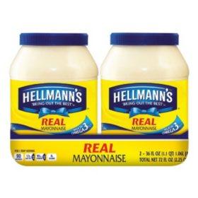 Hellmann's Real Mayonnaise (36 oz., 2 ct.)