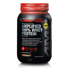 GNC Pro Performance AMP Amplified 100% Whey Protein - Chocolate - 32 oz.